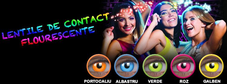 Lentile de contact Fluorescente