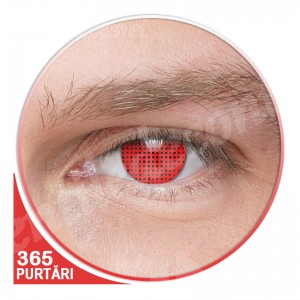 lentile de contact rosii fluorescente blind screen