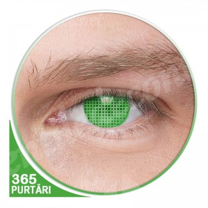 lentile de contact verzi fluorescente blind screen