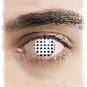 lentile contact halloween blind screen alb