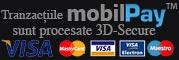 Plati securizate si procesate 3D prin MobilPay